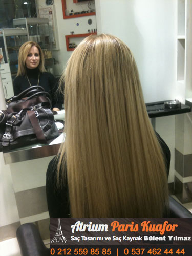 keratin kaynak saç modeli