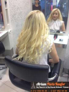 dalgalı saça kaynak uygulaması 6