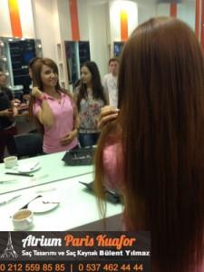 kıvırcık saça kaynak saç uygulaması 1