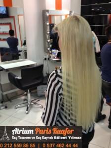 kıvırcık saça kaynak saç uygulaması 2