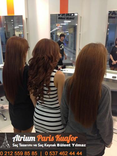 kıvırcık saça kaynak saç uygulaması 4