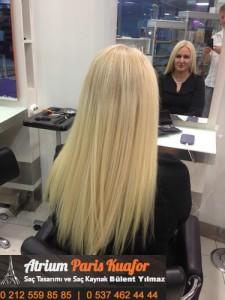 kıvırcık saça kaynak saç uygulaması 6