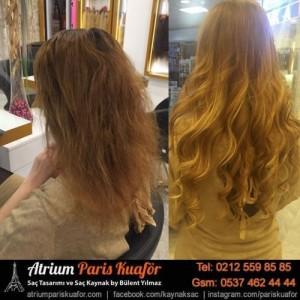 kaynak saç öncesi ve sonrası