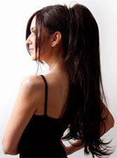 saça postiş uygulaması - 2