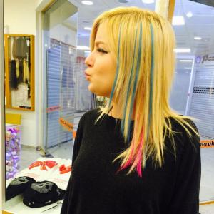 Saç Arasına Renkli Kaynak