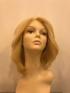 sarı dalgalı medikal peruk